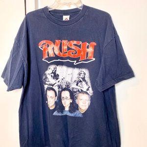 Rush concert band tee Tshirt 2XL NAVY BLUE